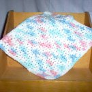 Pastels Handmade Crocheted 100% Cotton Washcloth by The Village Craftsmith