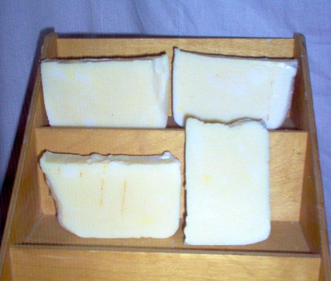 Handmade Tropical Fruit Slices CP Pioneer Lye Soap Mega Bath Bar by The Village Craftsmith