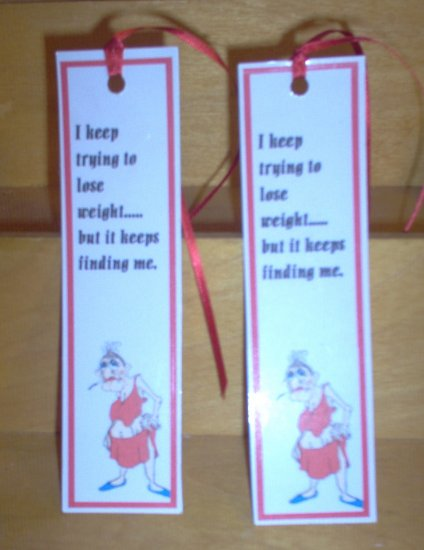 Handmade Bookmark Weight Joke by The Village Craftsmith