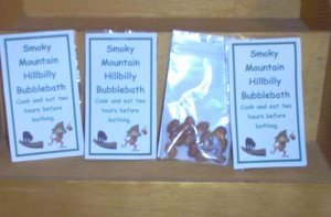 Smoky Mountain Hillbilly Bubblebath Gag Gift by The Village Craftsmith