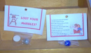 Lost Marble Gag Gift by The Village Craftsmith