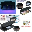 Counterfeit UV Light Money Detector Checker Fake Money Bill LED Tester EU Plug