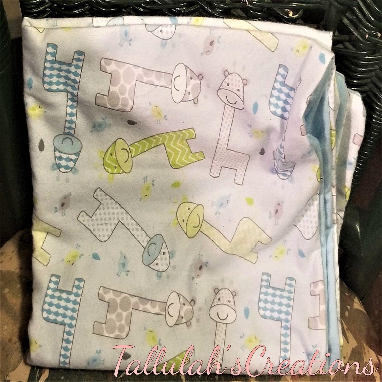"""Baby Giraffe"" Baby Blanket"