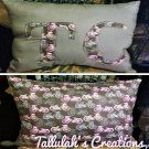 """Tallulah's Creations"" Initial Throw Pillow"