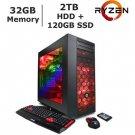 CyberpowerPC Desktop Computer Gamer Xtreme S760 Intel Core i7 7th Gen