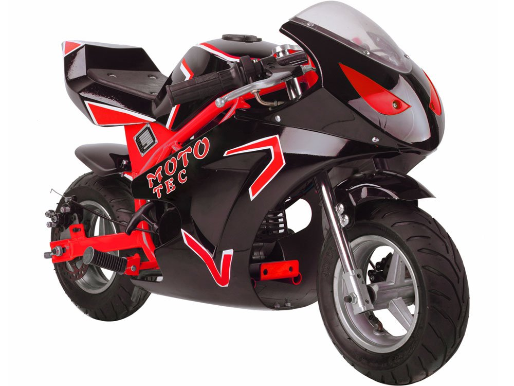 MotoTec Gas Pocket Bike GT 49cc 2-Stroke Red