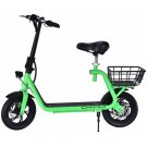 350W ELECTRIC SCOOTER WITH SEAT IN GREEN