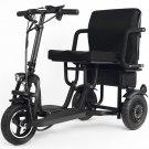 MotoTec Folding Mobility Electric Trike 48v 700w Dual Motor Lithium Black
