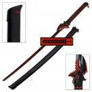 Overwatch Genji Red & Black Cyborg Ninja Katana Dragonblade Carbon Steel Power Sword