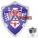 Legend of Zelda Steel Majora's Mask Link's Triforce Hylian Shield Real Metal Replica - YH-06