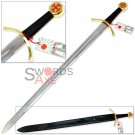 ORDER OF THE KNIGHTS TEMPLAR CRUSADER MASONIC SWORD - STAINLESS STEEL FULL TANG