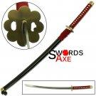 Ninja Sword Japanese Bleach Anime Bushido Samurai Katana Steel Replica Cosplay Manga - JS-522BK