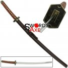Japanese Bleach Anime Samurai Ninja Sword Samurai Katana Carbon Steel Cosplay Replica - JS785