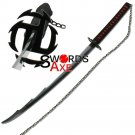 Ninja Sword Japanese Bleach Anime Samurai Dark Soul Spiked Blade Black Cosplay Replica - SB-010