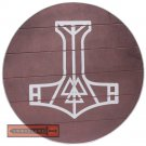 Viking Knights Mjöllnir Thor Hammer Shield Wooden Round Functional Norse Mythology BIT-06-BR