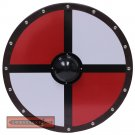 Viking Knight Templar Medieval Quadrant Norse Wooden Round Battle Ready Shield HNS-043