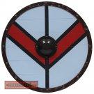 Viking Knights Legartha Shield Medieval Norse Raider Wooden Round Blue Shield - AHL-05