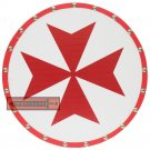 Wooden Templar Knights Red Cross Historical Crusader Round Shield WWR-02