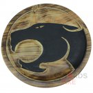 ThunderCats Carved Round Wooden Shield Natural Texture Black Panther WSH-03