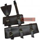 Double Sword Frog Waist Band Holster Belt-Mounted Adjustable Angle Medieval & Japanese LWF04B