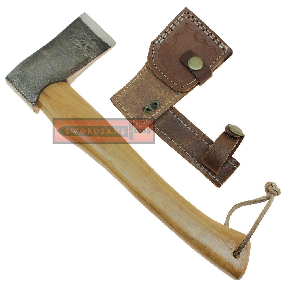 Handmade Camping & Hiking Hatchet Hardwood Handle Viking Axe Stainless Steel Bit MN-018