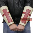 Knights Templar Red Cross Crusaders Medieval Leather Armor Bracers FA-001