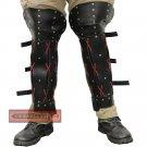 Ghost of Tsushima Sekiro Ninja Shadows Die Twice Leather Samurai Ronin Greaves Leg Armor FA-017