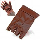 Steampunk Assassin Creed Single Glove Open Finger Left Handed Felt-Lined Pleather - LWG07