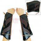Ghost of Tsushima Inspired Leather Bracers Pair Cosplay Black Armor Forearms LWG01