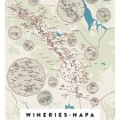 Wineries of Napa Poster 18x24 inches