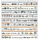 The Architecture of American Houses Poster 24x32 inches