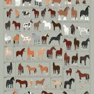 HORSES: A CHART OF NOTABLE BREEDS Poster 12x19 inches