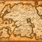 Skyrim Map  Poster 18x24 inches