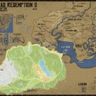 Red Dead Redemption 2 Map Poster 18x24 inches