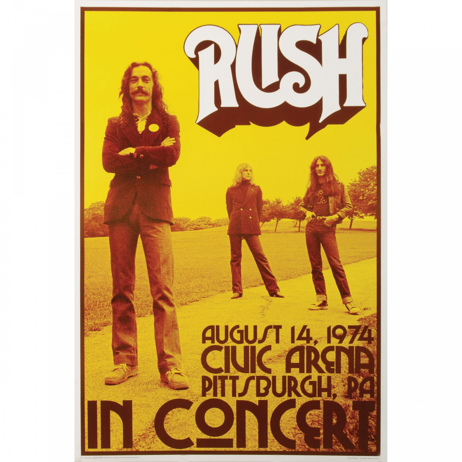 Rush Concert  Poster 12x19 inches