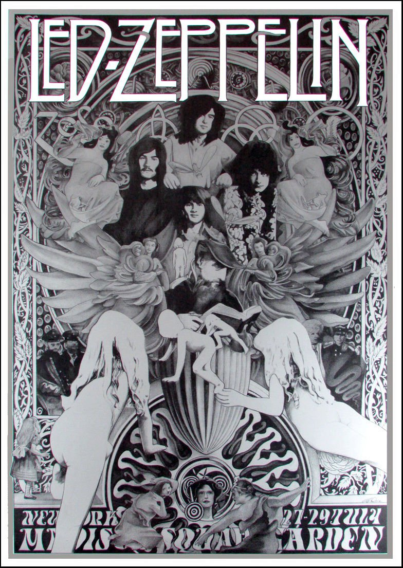 Led Zeppelin Concert  Poster  12x17 inches