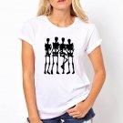 dancing skeleton white tshirt for  women and Girls