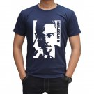 Malcolm x  high quality  and cheapest price blue tshirt for men