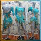 Latino latin salsa competition dress deep sky blue (LA12310)