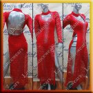 Latino latin salsa competition dress red (LA11930)