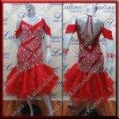 Latino latin salsa competition dress handmade sewing sequins (LA5720)