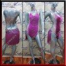 Latino latin salsa competition dress medium orchid (LA5780A)