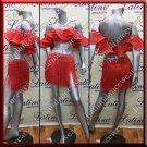 Latino latin salsa competition dress red (LA11760)