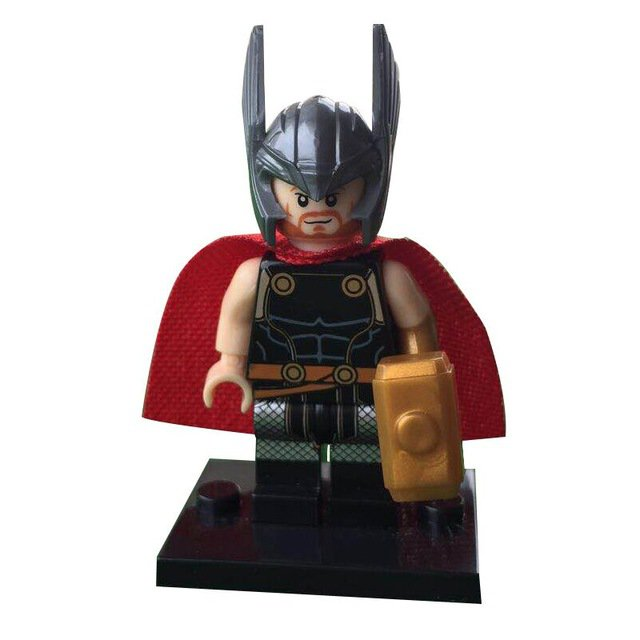 Thor With Golden Hammer Lego Minifigure Building Block Toys