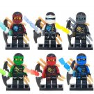 6pcs The Phantom Ninja Mounts With Weapons Lego Toys Ninjago Minifigure Block Toys