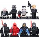 8pcs Shadow Guard Red Guard Darth Sidious Lego Toys Star Wars Minifigure Block Toys