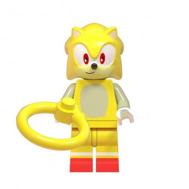 Super Sonic The Hedgehog Lego Toys Anime Theme Minifigure Block Toys