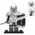 Gondorians Spear Infantry With Silver Armor Lego Toys Lord Of The Rings Minifigure Block Toys