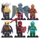 6pcs Red Knight Battle Hound Magnus Fortnite Heroes Character Lego Toys Minifigure Block Toys