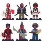 6pcs Deadpool Doctor Punk Guitarist  Lego Toys Superheroes Minifigure Block Toys